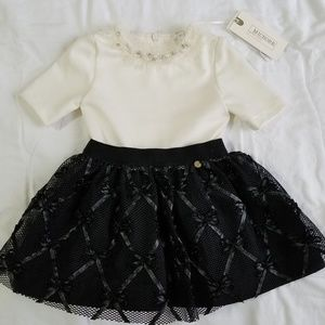 NWT Microbe Luxury Toddlers Girls Party Dress